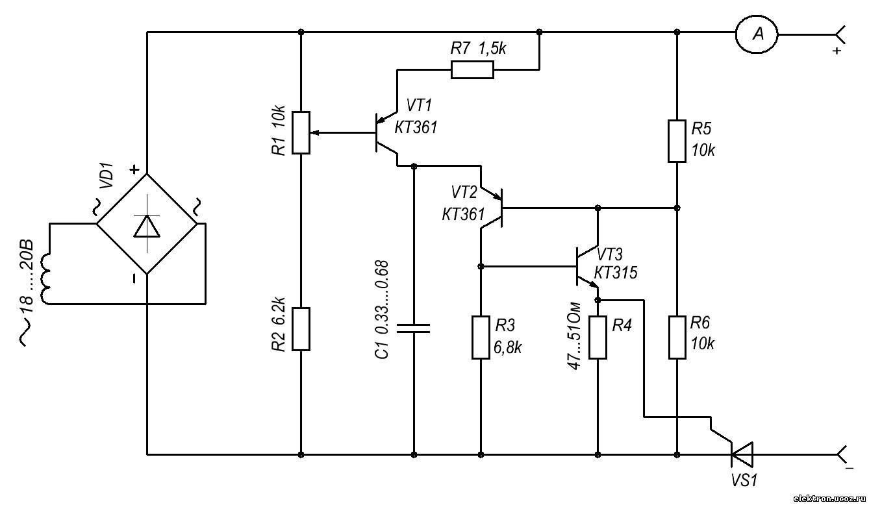 зарядное устройство на тиристоре схема, подключение и.