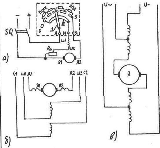 Схема включения электрических
