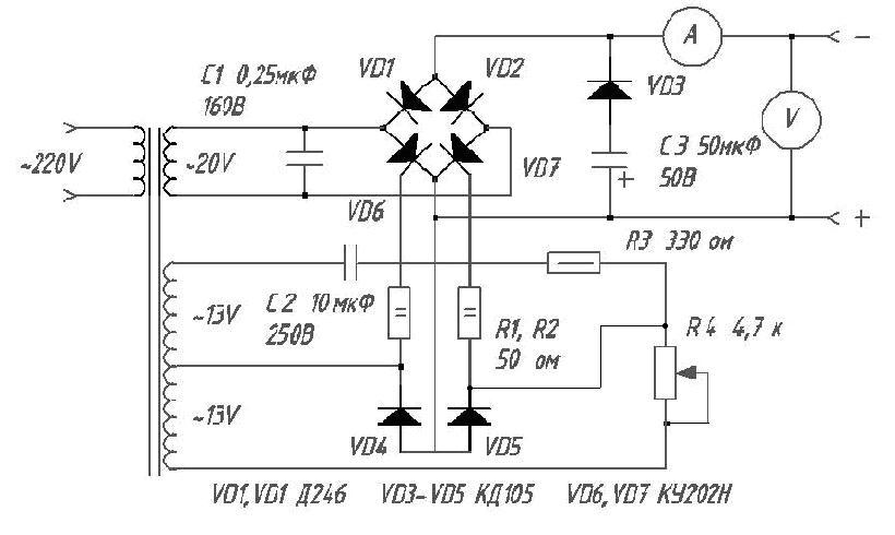VD6-7 тиристоры Т-132-40.